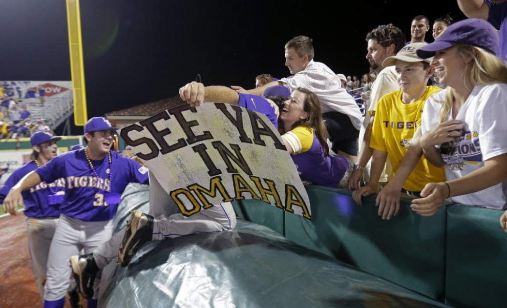 LSU plays its opening game in College World Series vs. TCU on Sunday at 2 p.m.; other dates, times announced _lowres
