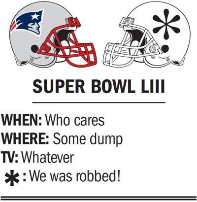 Super Bowl logo asterisk