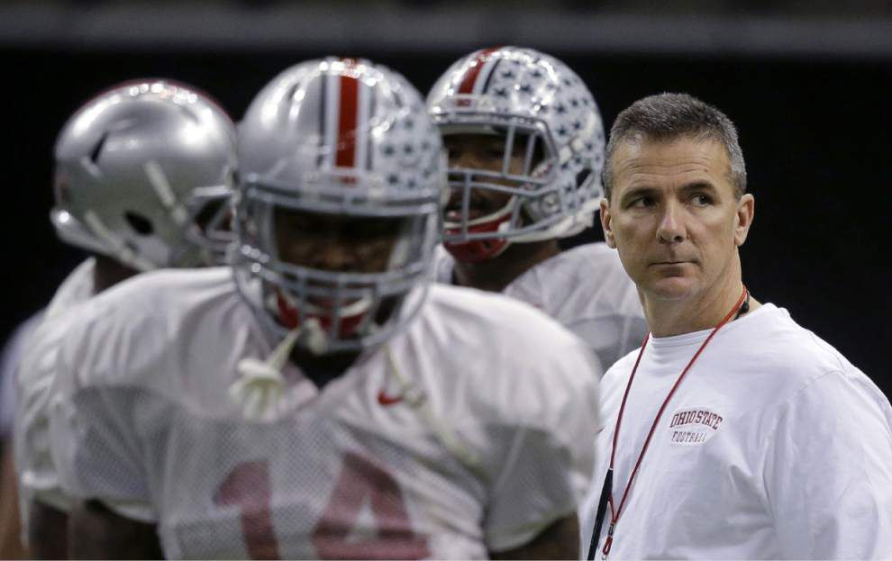 Video: Ohio State coach Urban Meyer talks about his past quarterbacks _lowres