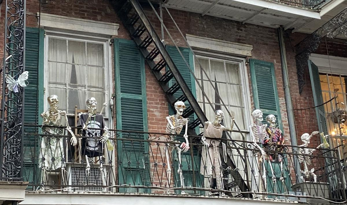 Halloween display French  Quarter