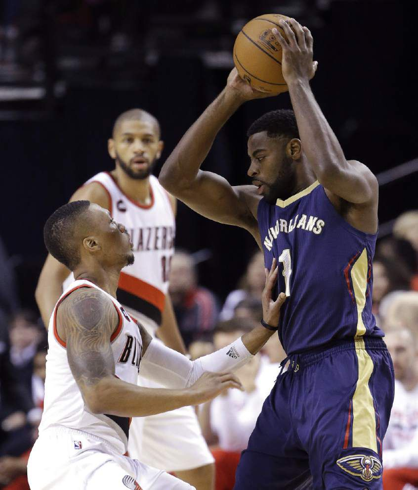 Despite Saturday's loss in Portland, Pelicans control their destiny in battle with Oklahoma City for a playoff spot _lowres