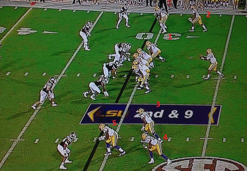 Is LSU's offense implementing more spread? Through Game 1, you betcha _lowres