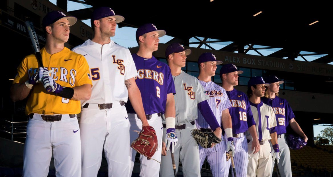 best service f0b99 e7346 Looking sharp: LSU baseball unveils 2017 uniform ...