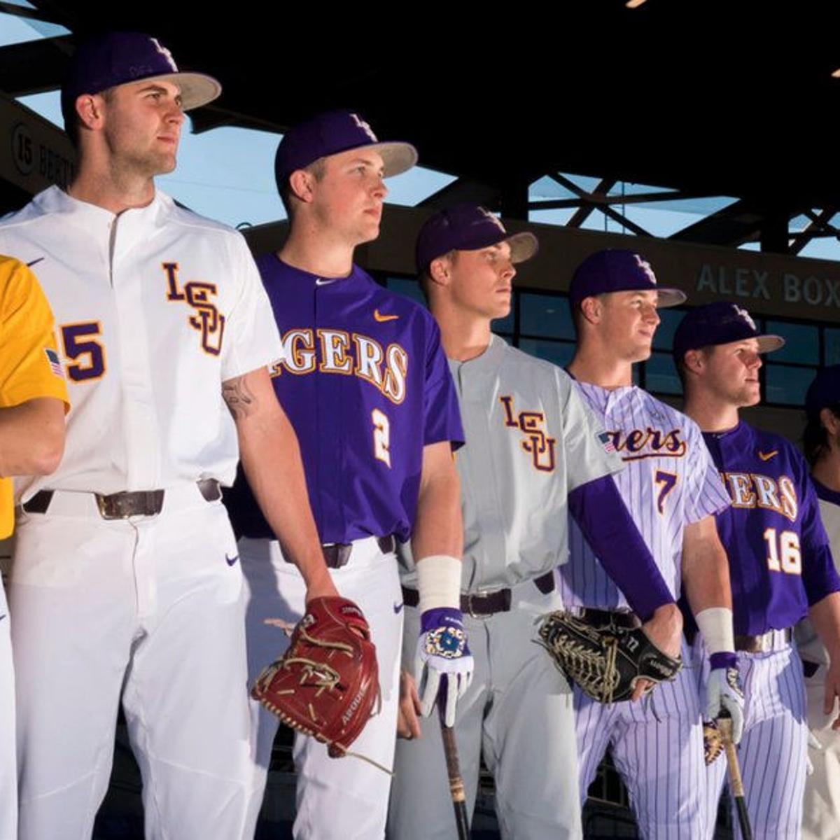 best service 6197e 17fb0 Looking sharp: LSU baseball unveils 2017 uniform ...