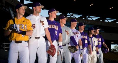 best service 0feb8 4603a Looking sharp: LSU baseball unveils 2017 uniform ...