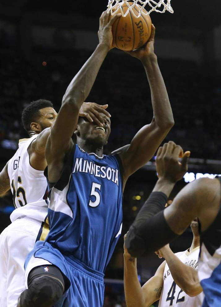Without Anthony Davis, Pelicans falter in the final minutes of 112-110 loss to Timberwolves _lowres