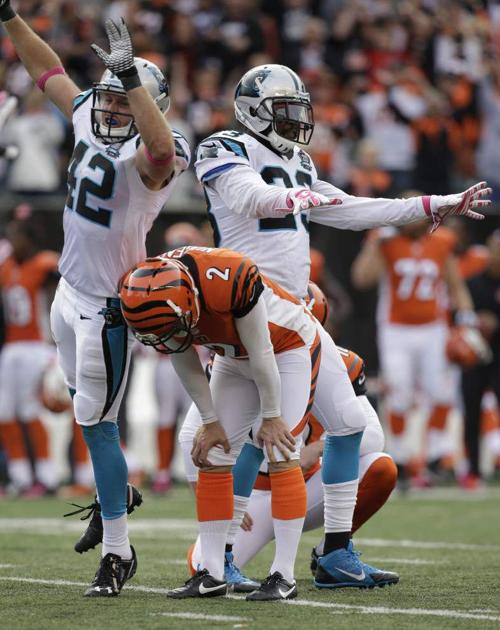 Mike Nugent's miss leaves Bengals, Panthers tied _lowres