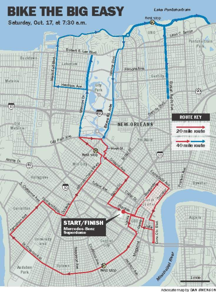 Organizers expect 1,300 cyclists to turn out Saturday for bike ride around New Orleans _lowres