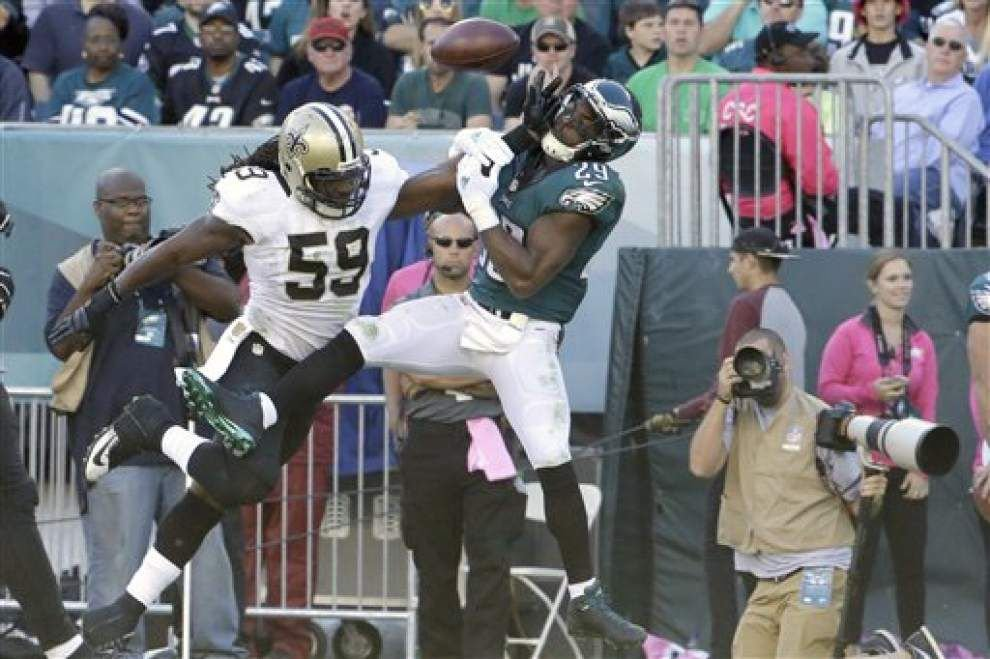 Saints still missing linebackers in open portion of Thursday practice _lowres