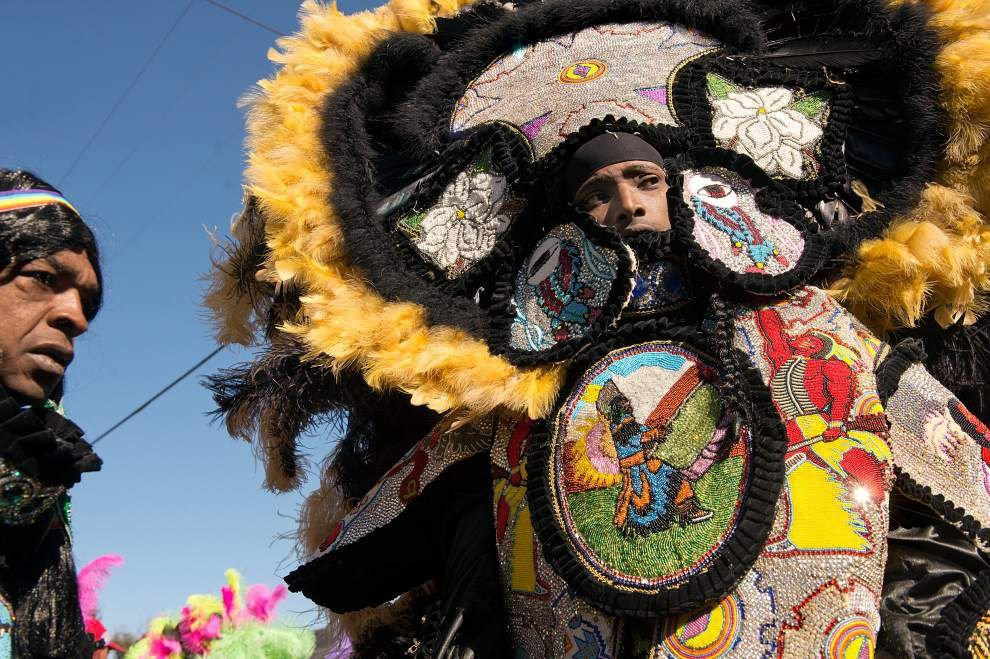 Photos: Mardi Gras Indians make traditional sojourn on New Orleans streets _lowres