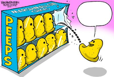 Jeepers Peepers! Who's gonna write the funniest punchline for Walt Handelsman's latest Cartoon Caption Contest?!