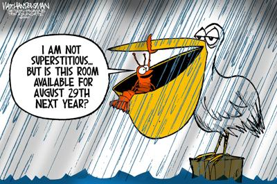 With over 550 entries sent in, check out the WINNER and finalists in Walt Handelsman's latest Cartoon Caption Contest