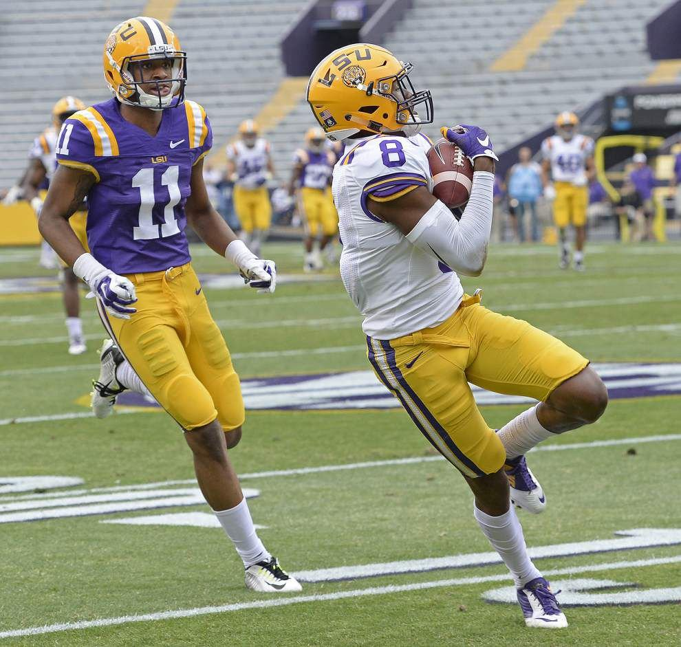 More 'bells and whistles' coming? LSU flashes part of its new 3-4 defense in Saturday's spring game _lowres