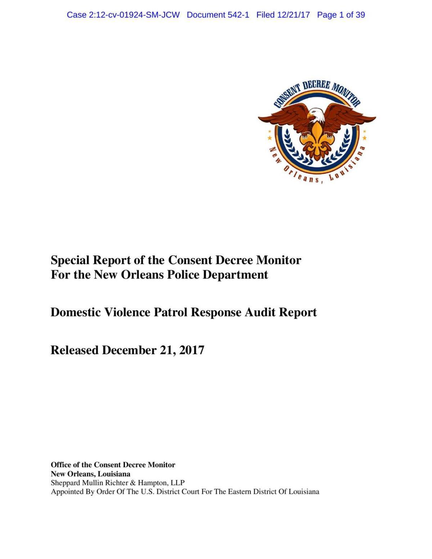 NOPD DV Decree Report