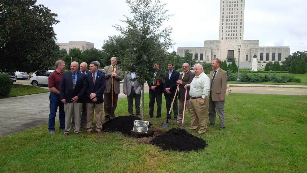 State leaders plant oak _lowres