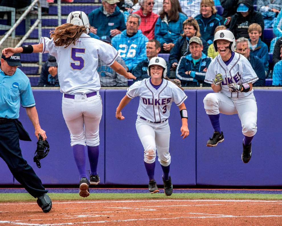 Last season's lessons learned at NCAA regional, benefit James Madison softball team this season _lowres