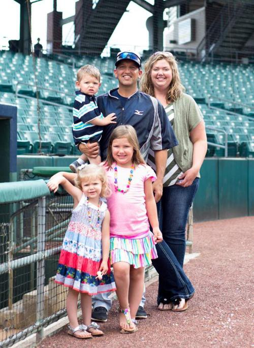 Father's Day 2014: Zephyrs manager Andy Haines relishes rare family time _lowres