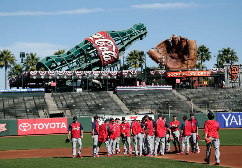 Cardinals return to familiar setting: The Giants' AT&T Park _lowres
