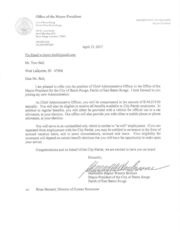 chief administrative officer resume transportation package handler