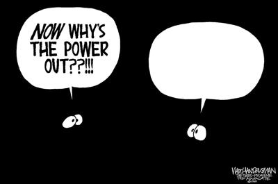 See if YOU can light up the word balloon in Walt Handelsman's latest Cartoon Caption Contest?!!