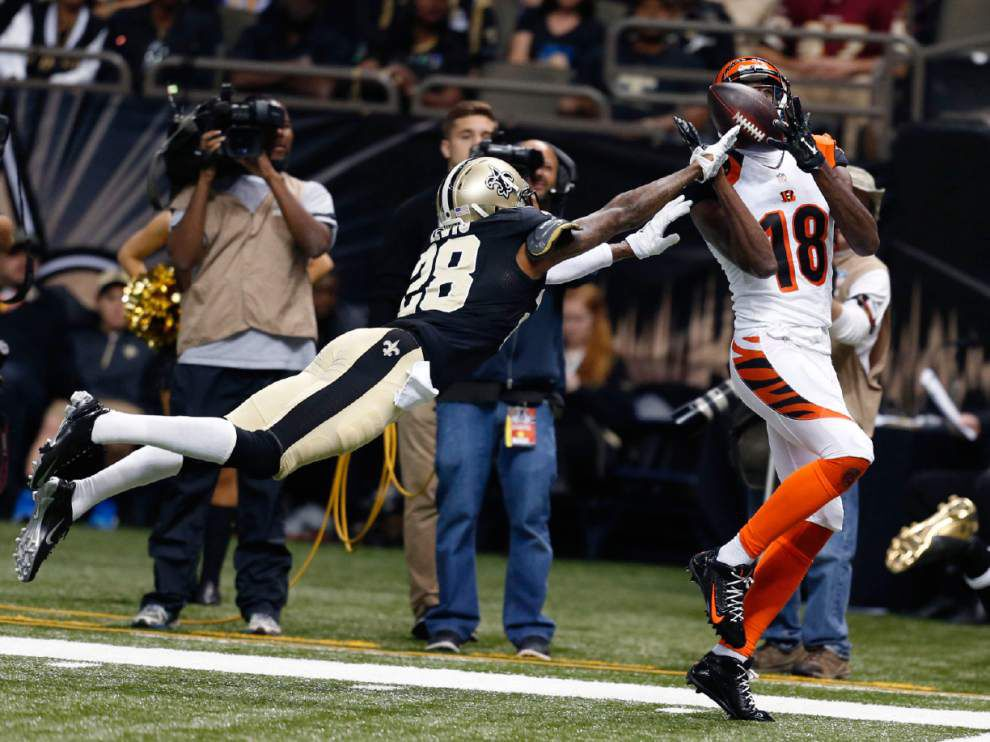Cornerback Keenan Lewis did not participate in the New Orleans Saints' Thursday's practice _lowres