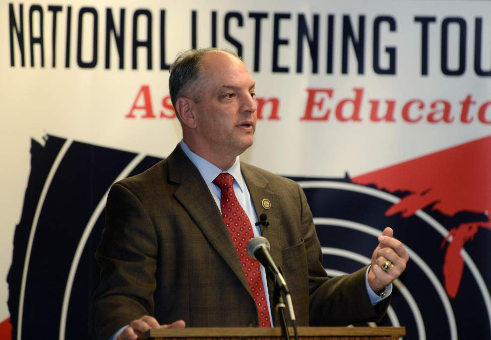 Gov. John Bel Edwards answers teachers' questions at town hall-style meeting _lowres