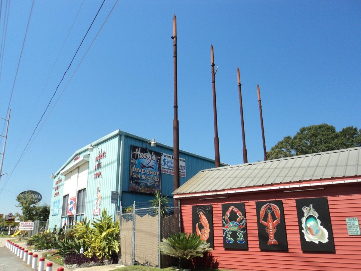 Blake Pontchartrain: Harry's Dive Shop and the mysterious metal poles_lowres