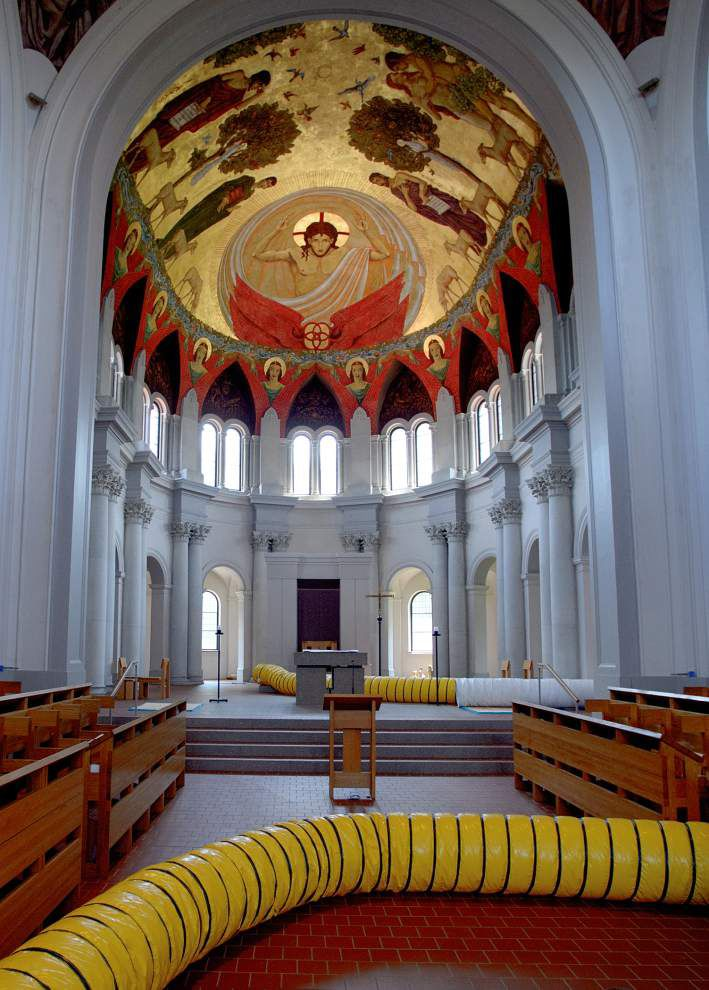 WWL-TV: St. Joseph Abbey to resume church services three months after historic flooding _lowres