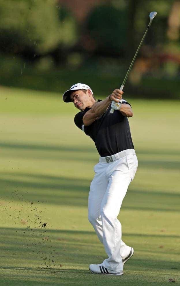 Camilo Villegas fires 62 for Wyndham lead _lowres