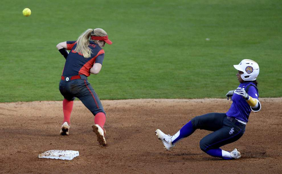 LSU softball posts pair of run-rule wins _lowres