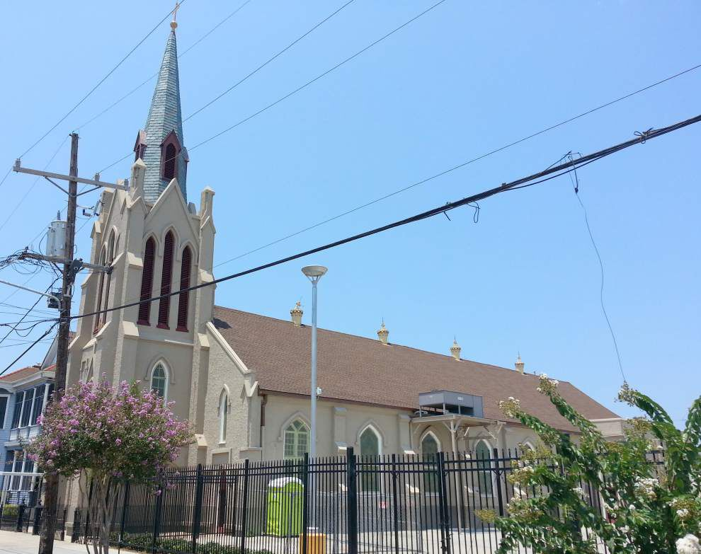 St. Peter Claver Church in Treme 'rolls with the punches,' carries on after part of the ceiling collapses _lowres