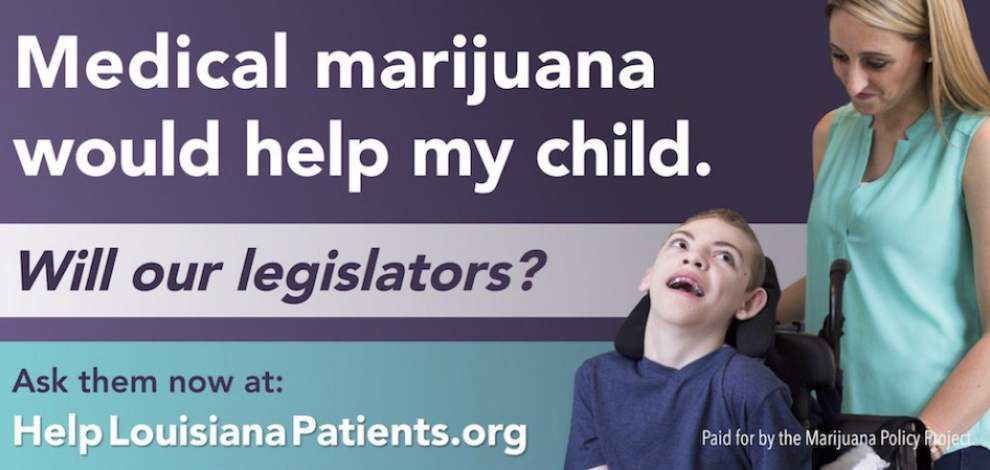 Louisiana women's message on billboards: 'Medical marijuana would help my child; Will our legislators?' _lowres