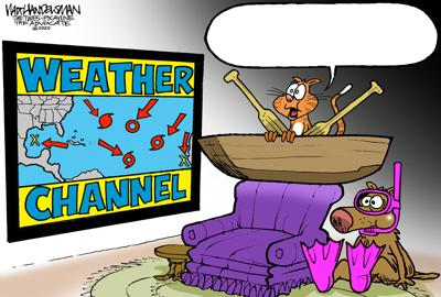 Can you make people smile even during this scary storm season? That's the challenge in Walt Handelsman's newest Cartoon Caption Contest!