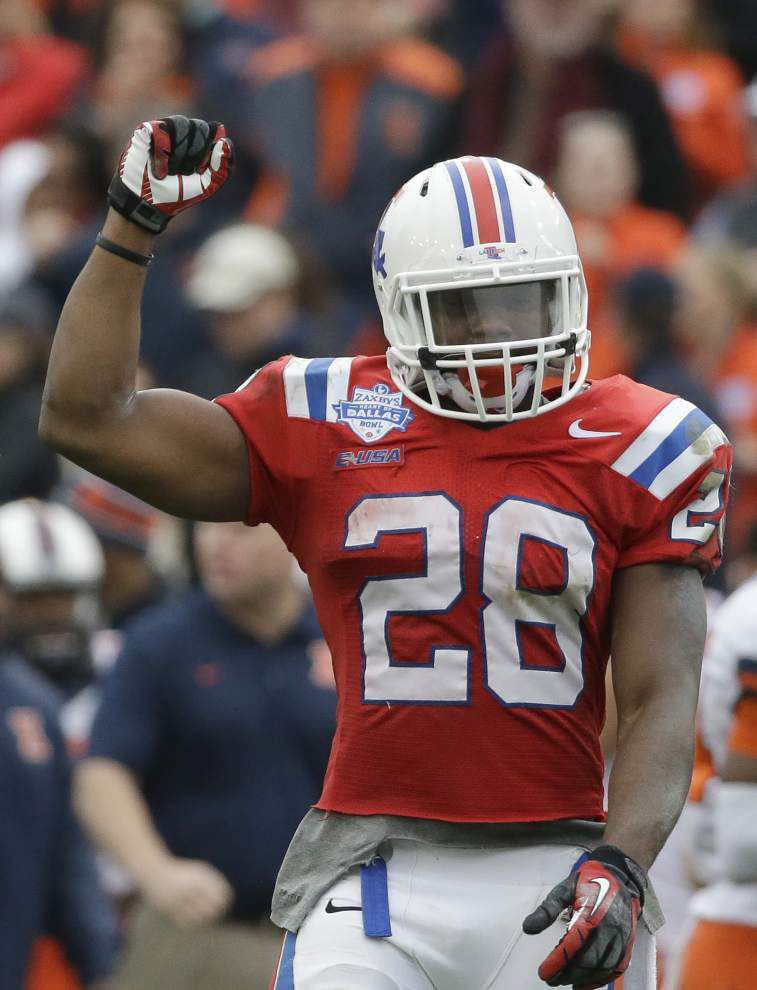Louisiana Tech's Kenneth Dixon is an 'unselfish' star who will test Southern this weekend _lowres