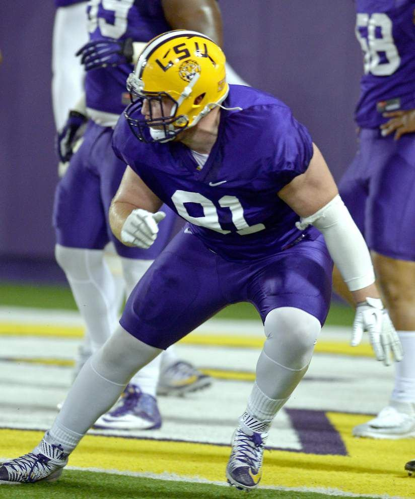 'All what you make of it': LSU swaps Davon Godchaux, Christian LaCouture as part of continuing tinkering with new 3-4 defense _lowres