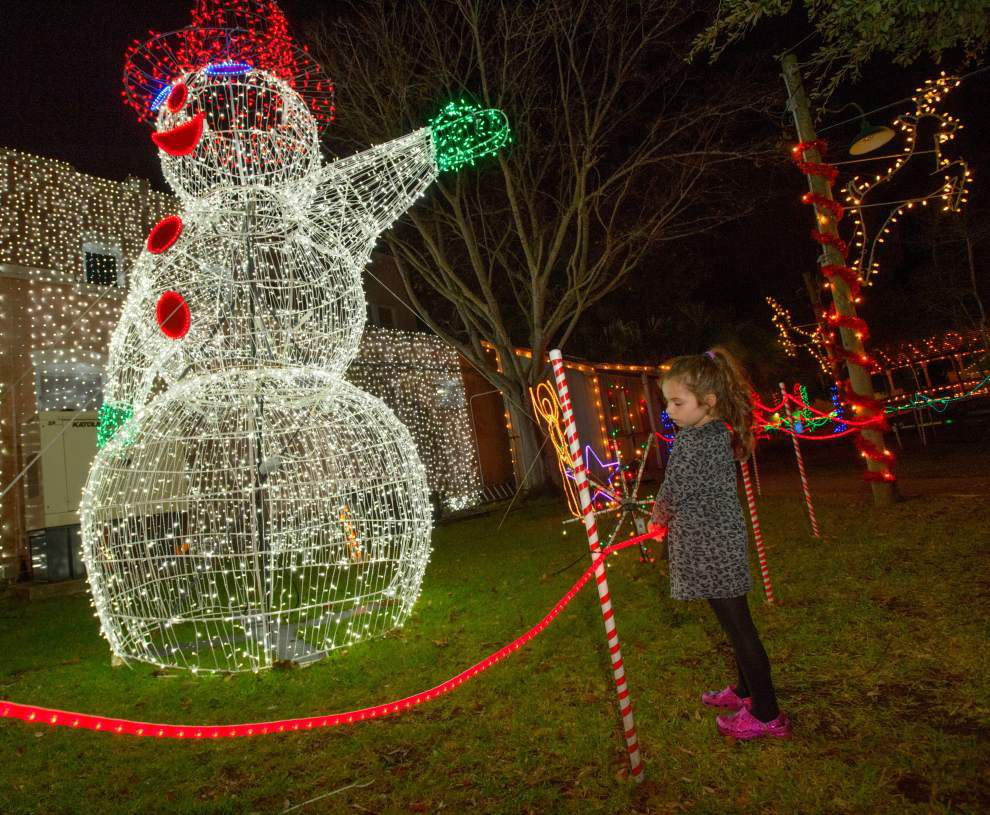 Photos: Holiday lights shine bright at Kenner Christmas Village in ...