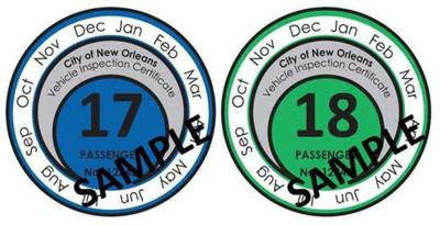 New Orleans drivers to get 2-year brake tags, with easy-to-see expiration dates _lowres (copy)
