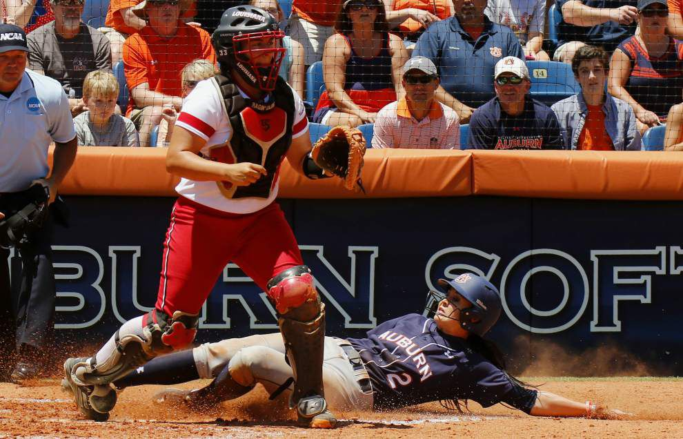 Cajuns softball squad's season ends with super regional defeat at Auburn _lowres