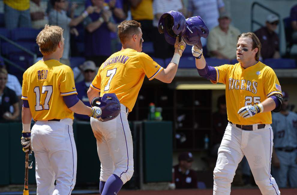 'A much more crisp day for us': LSU's offense batters nine Mississippi State pitchers for 11-8 win _lowres