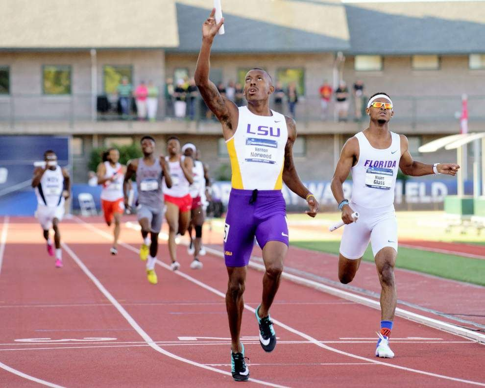 Sprinter Vernon Norwood carves niche with LSU track greats _lowres