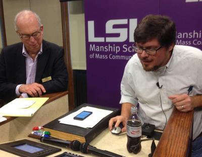 LSU journalism dean meets at freewheeling forum to discuss future of Reveille _lowres
