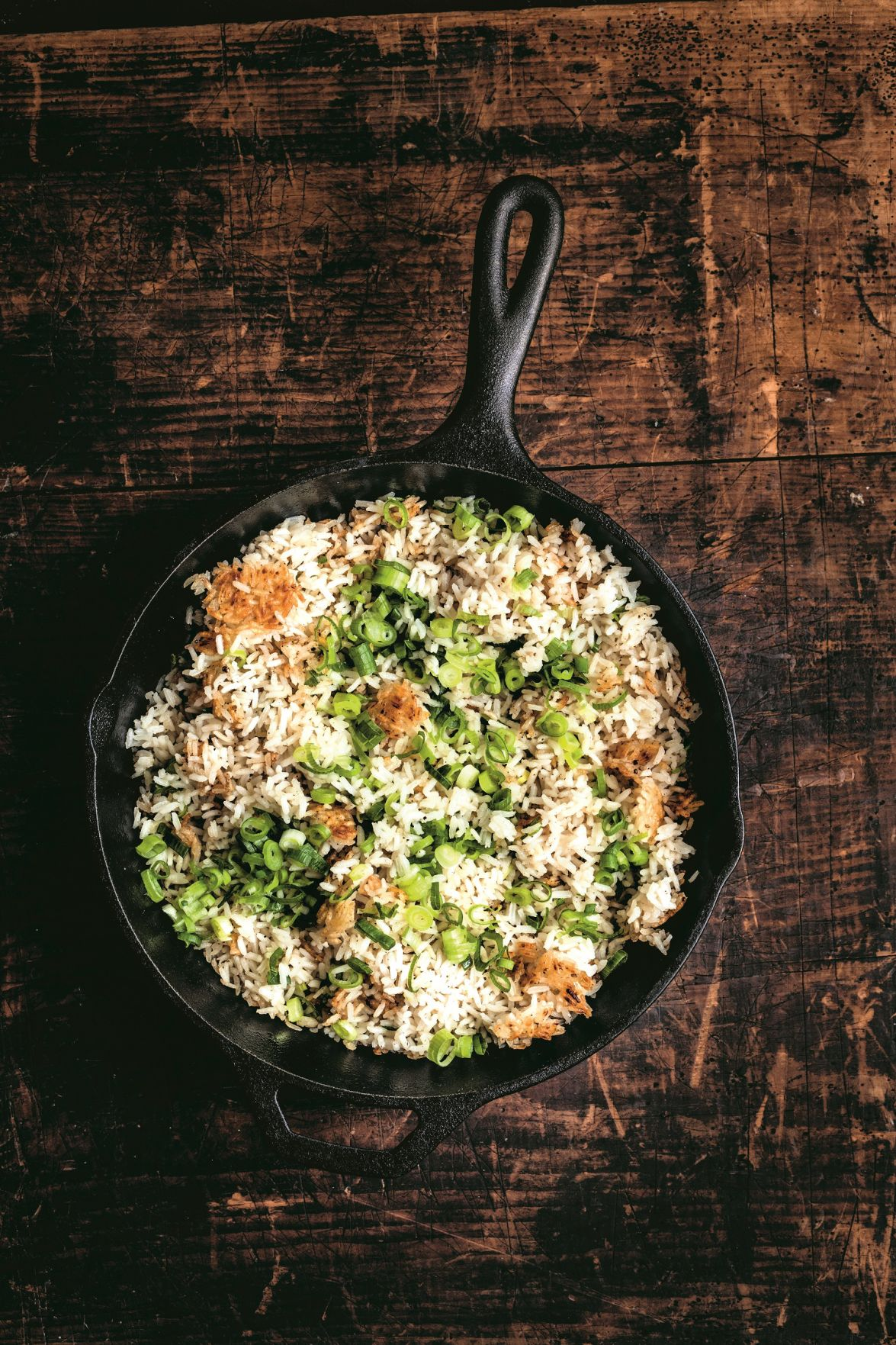 Scallion rice