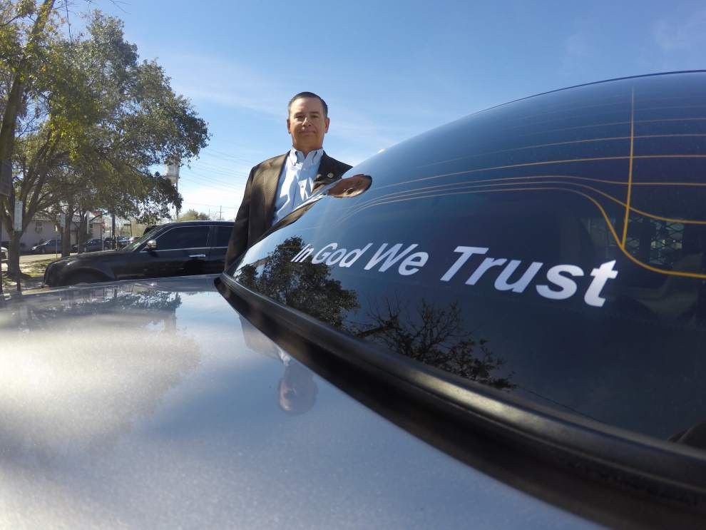 Covington Police Chief Tim Lentz emblazons cruisers with 'In God We Trust' stickers _lowres