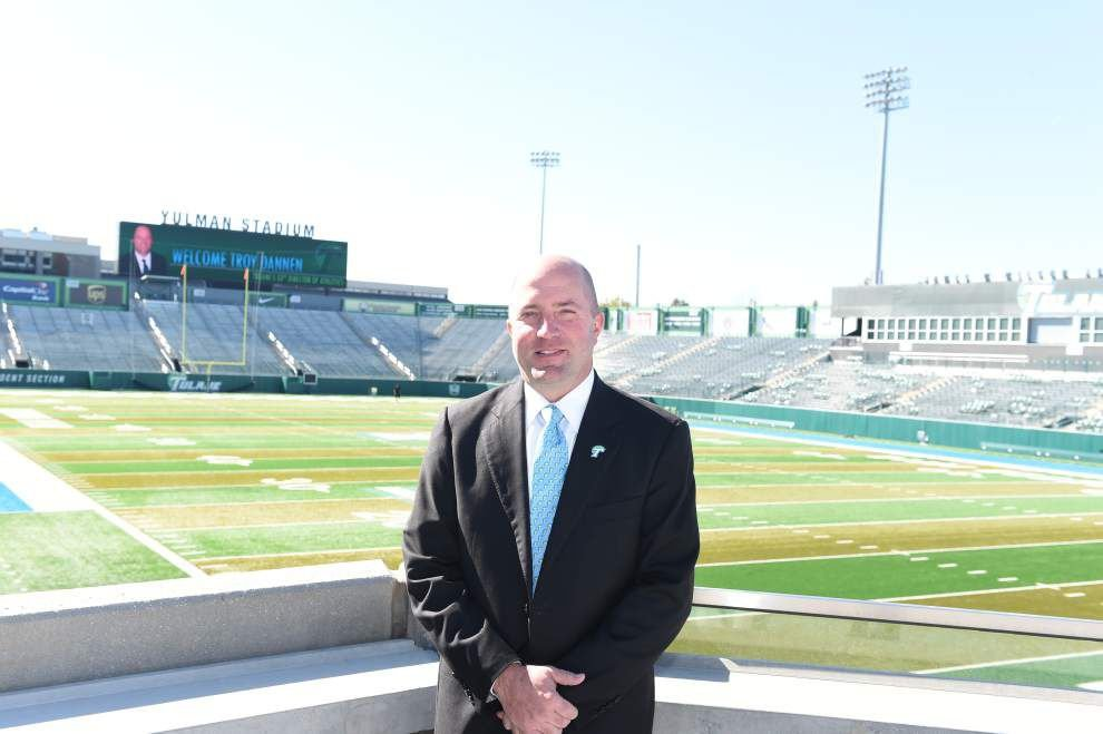 Ted Lewis: New Tulane athletic director Troy Dannen has some mighty lofty goals, but his message is resonating so far _lowres