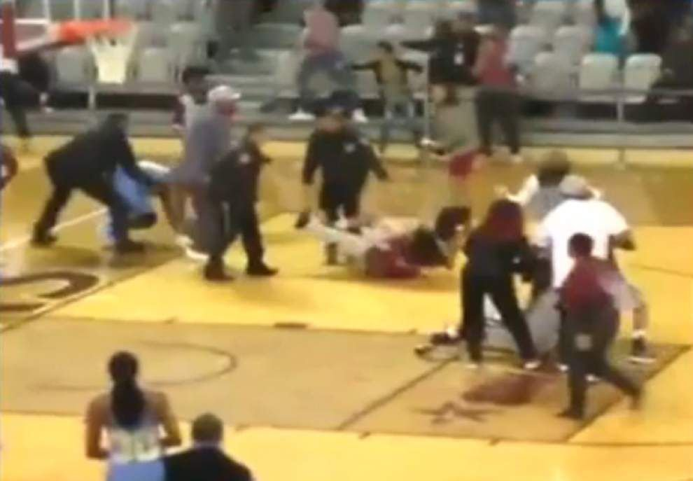 New video shows entire fight at Southern women's basketball game, including what triggered the brawl, who was involved _lowres