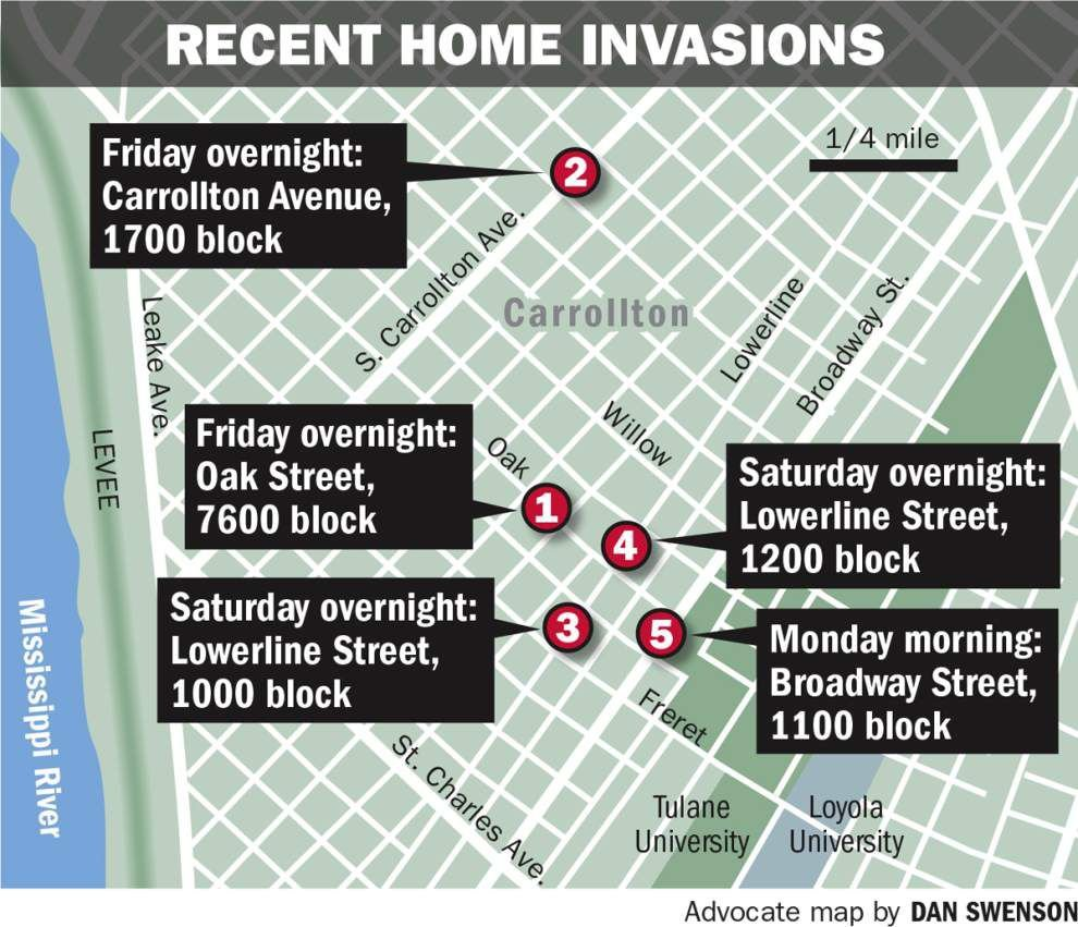 Same man suspected in five nighttime break-ins near Tulane campus; single women believed to be targeted _lowres