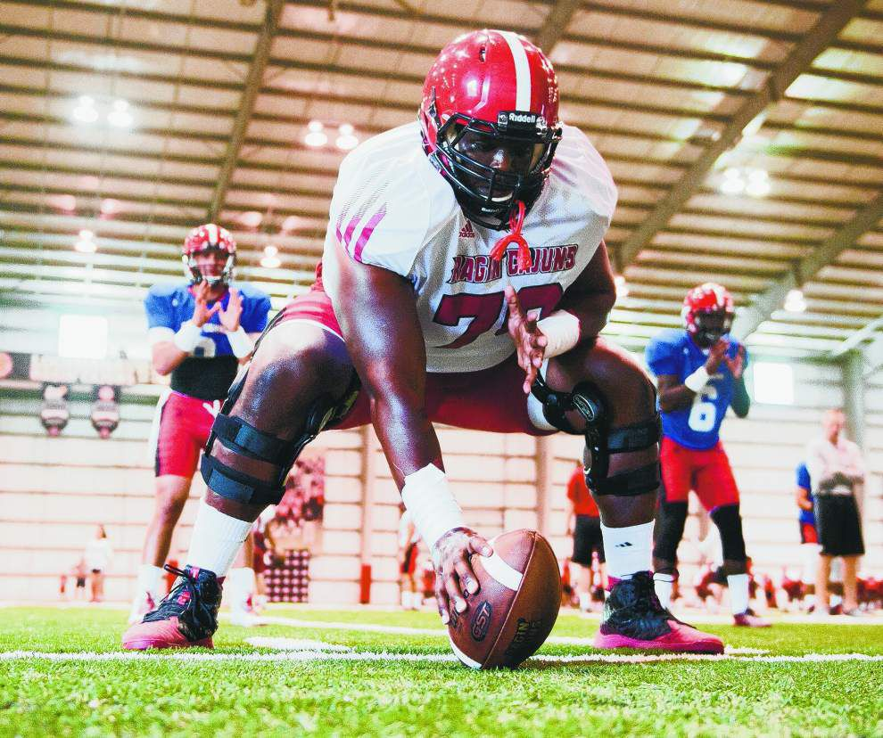 Cajuns' offensive line shaping up to team's strength _lowres
