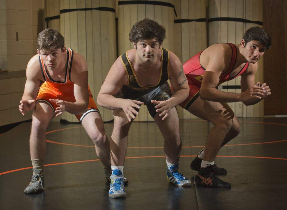 Matthew Mire, Brody Bonura and Koby Mancuso are The Advocate's all-metro outstanding wrestlers _lowres
