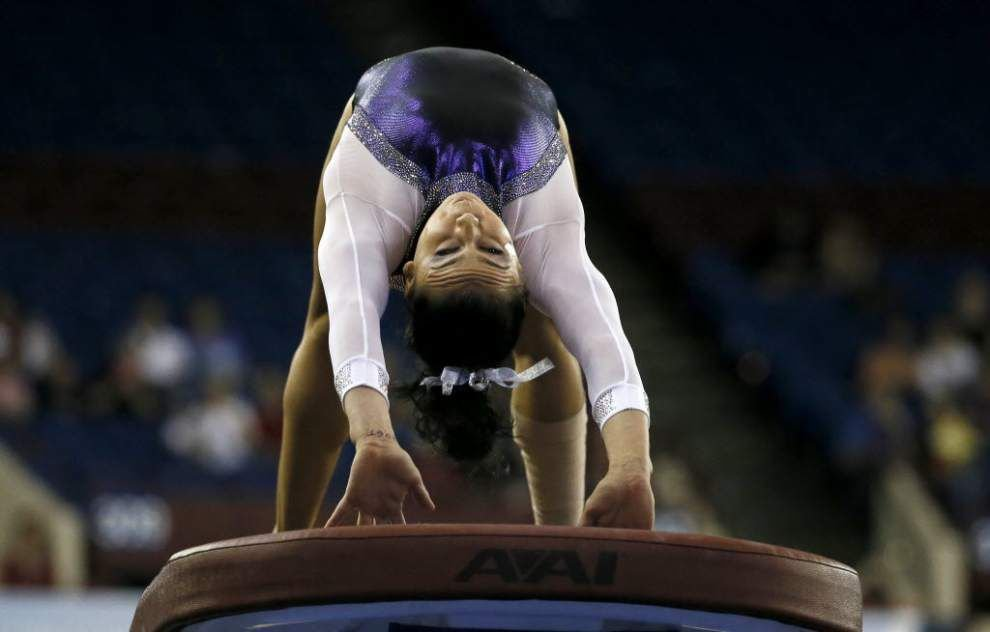 Balance beam miscues cost LSU gymnastics team, which misses Super Six finals _lowres