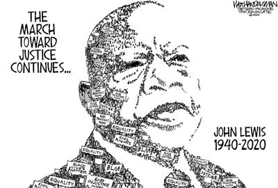 Walt Handelsman: RIP John Lewis